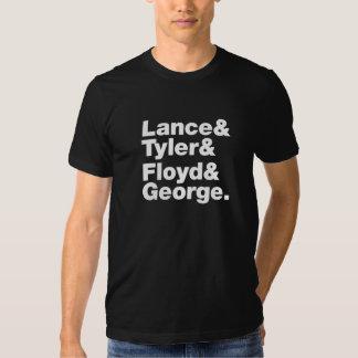 Lanza y Tyler y Floyd y George Playeras
