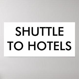 LANZADERA A LOS HOTELES PÓSTER