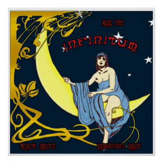 Lanzadera de la luna póster