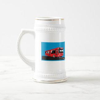 Lanzadera del autobús del coche retra tazas