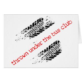 Lanzado debajo de la tarjeta del club del autobús