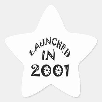Lanzado en 2001 colcomanias forma de estrellas