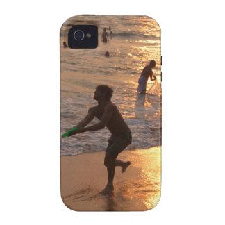 Lanzador del disco volador en la playa de Varkala  iPhone 4 Carcasa