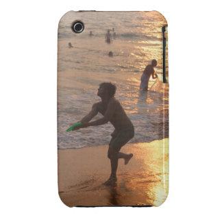Lanzador del disco volador en la playa de Varkala  Case-Mate iPhone 3 Coberturas