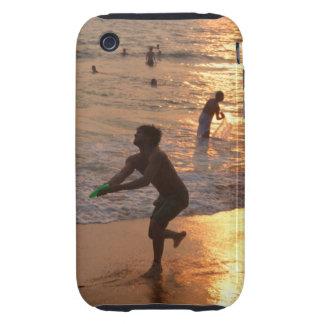Lanzador del disco volador en la playa de Varkala  iPhone 3 Tough Carcasa
