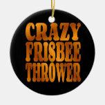Lanzador loco del disco volador en oro adornos de navidad