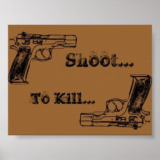 Lanzamiento a matar póster