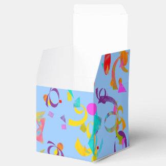 Lanzamiento colorido del confeti cajas para regalos de fiestas