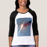 Lanzamiento de Apolo 11, con la bandera, NASA Camisas