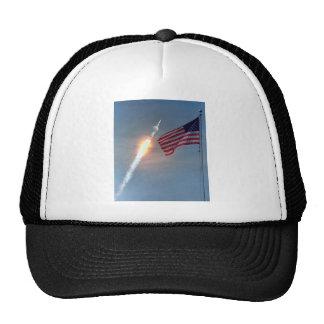 Lanzamiento de Apolo 11, con la bandera, NASA Gorros Bordados