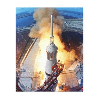 Lanzamiento de Apolo 11 Impresiones De Lienzo