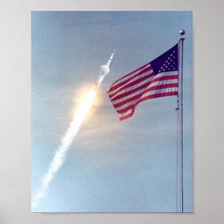 Lanzamiento de Apolo 11 Poster