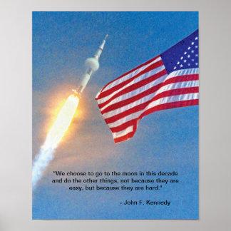 Lanzamiento de Apolo 11 Posters