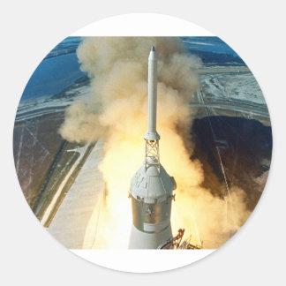 Lanzamiento de Apolo 11 Pegatina Redonda