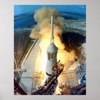 Lanzamiento de Apolo 11 Póster