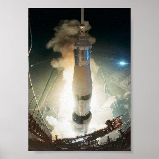 Lanzamiento de Apolo 17 Póster