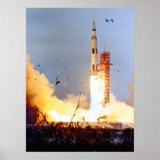 Lanzamiento de Apolo 9 Posters