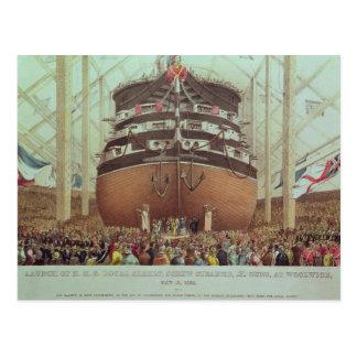 Lanzamiento de H.M.S. Royal Albert, vapor del Postal
