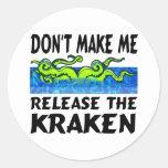 Lanzamiento de Kraken el kraken Etiqueta Redonda