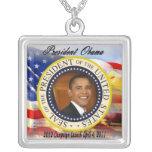 Lanzamiento de la campaña de presidente Obama 2012 Collar Personalizado