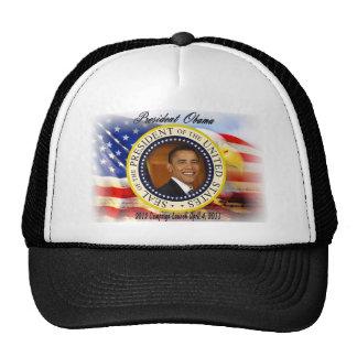 Lanzamiento de la campaña de presidente Obama 2012 Gorro De Camionero