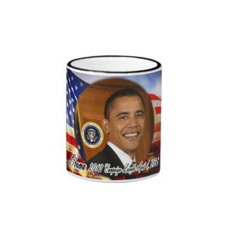 Lanzamiento de la campaña de presidente Obama 2012 Taza De Café