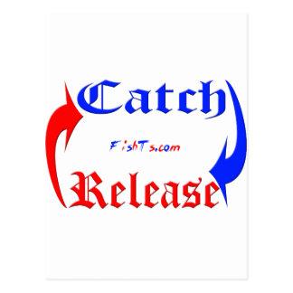 Lanzamiento de la captura n en azul/rojo tarjetas postales