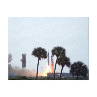 Lanzamiento de la fotografía del cohete del atlas  impresión en lona