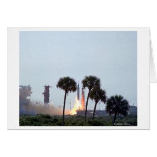Lanzamiento de la fotografía del cohete del atlas  tarjeta de felicitación