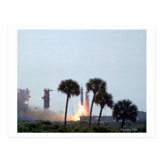 Lanzamiento de la fotografía del cohete del atlas tarjetas postales
