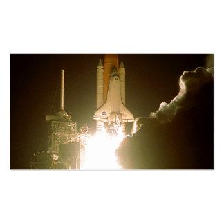 Lanzamiento de la nave espacial tarjetas de visita