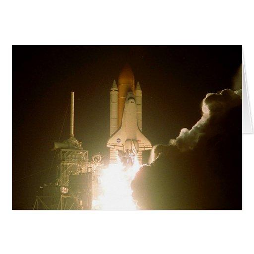 Lanzamiento de la nave espacial tarjeton