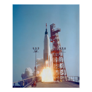 Lanzamiento de Mercury MA-9 del proyecto, fe 7 Posters