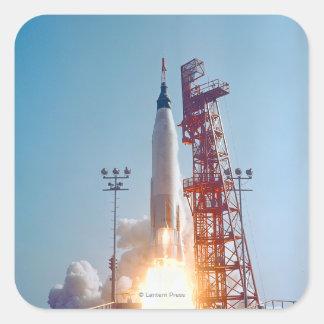 Lanzamiento de Mercury MA-9 del proyecto, fe 7 Calcomania Cuadradas Personalizadas