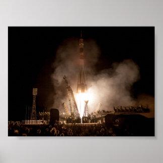 Lanzamiento de Soyuz Póster
