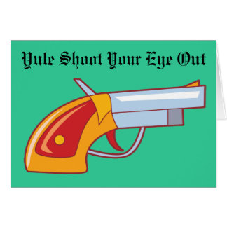 Lanzamiento de Yule su ojo hacia fuera Tarjeta De Felicitación