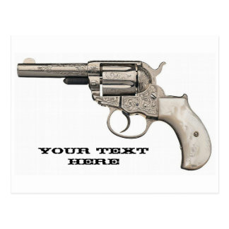 Lanzamiento del arma del vintage un mensaje postales