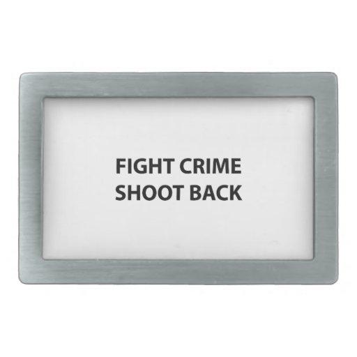 Lanzamiento del crimen de la lucha detrás hebilla cinturón