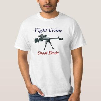 Lanzamiento del crimen de la lucha detrás playera
