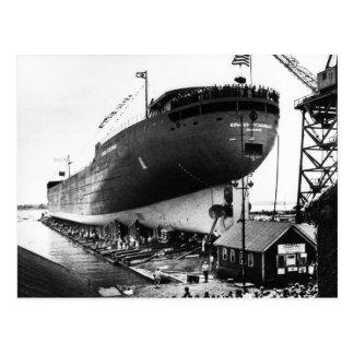 Lanzamiento del Edmund Fitzgerald 6-8-1958 (#1) Postal