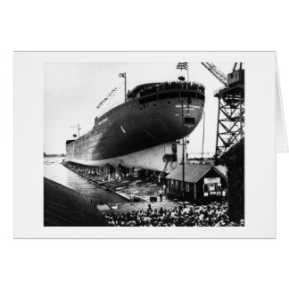 Lanzamiento del Edmund Fitzgerald 6-8-1958 (#1) Felicitación