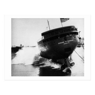 Lanzamiento del Edmund Fitzgerald 6-8-1958 (#2) Postal