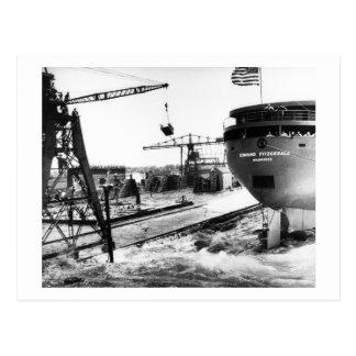 Lanzamiento del Edmund Fitzgerald 6-8-1958 (#5) Tarjetas Postales