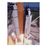 Lanzamiento del esfuerzo del transbordador espacia posters