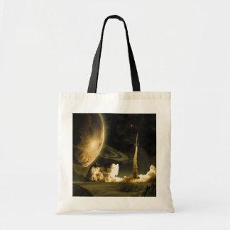 Lanzamiento del espacio del vintage bolsa lienzo