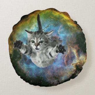Lanzamiento del gatito del universo del gato de la cojín redondo