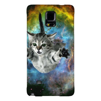 Lanzamiento del gatito del universo del gato de la funda galaxy note 4