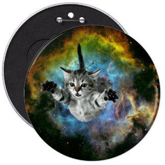 Lanzamiento del gatito del universo del gato de la pin redondo de 6 pulgadas