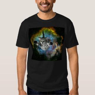 Lanzamiento del gatito del universo del gato de la remeras