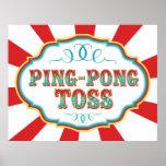 Lanzamiento del ping-pong de la muestra del juego posters